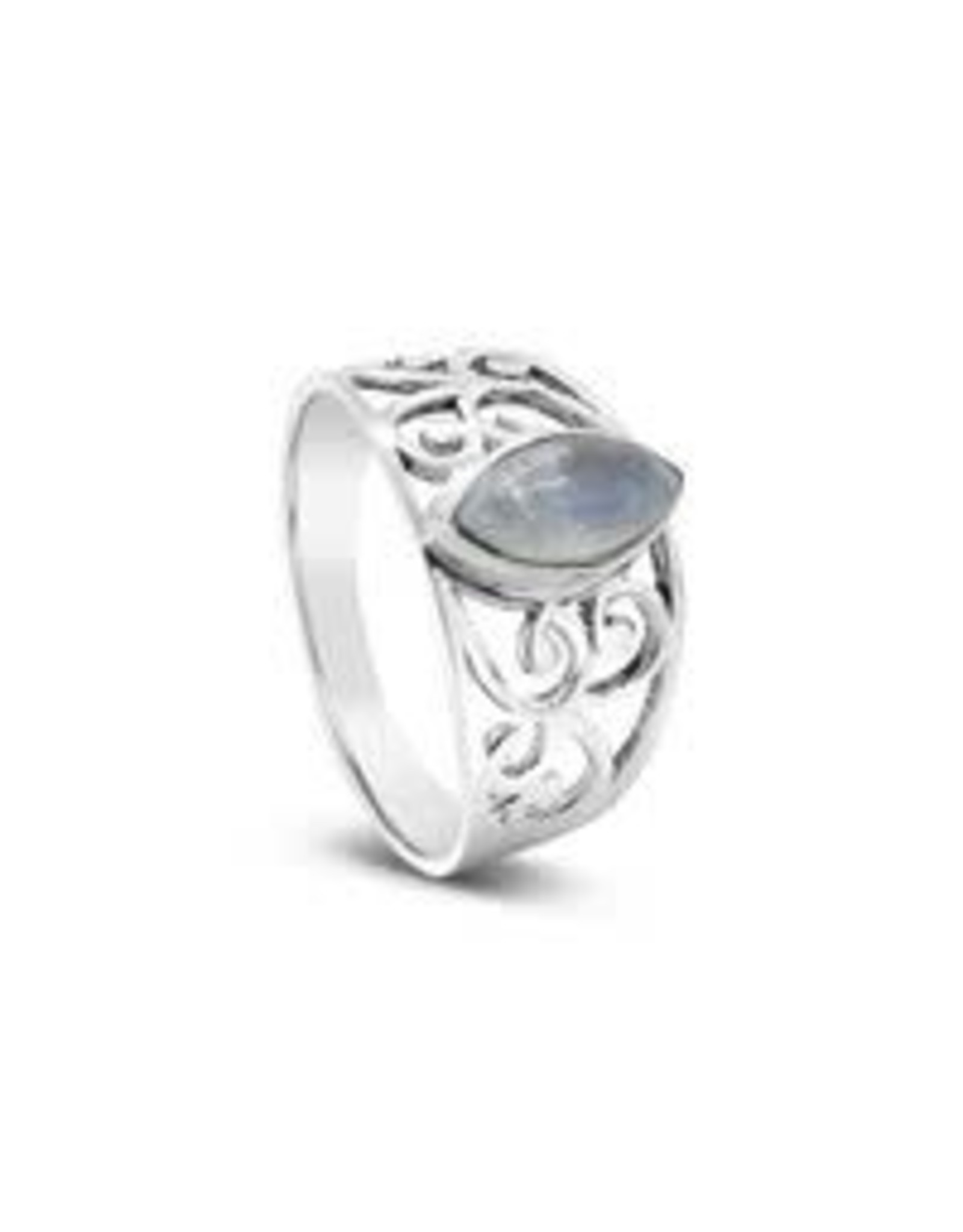Moonstone Ring 9mm x 7mm