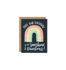 Sunshine Rainbow Birthday Card