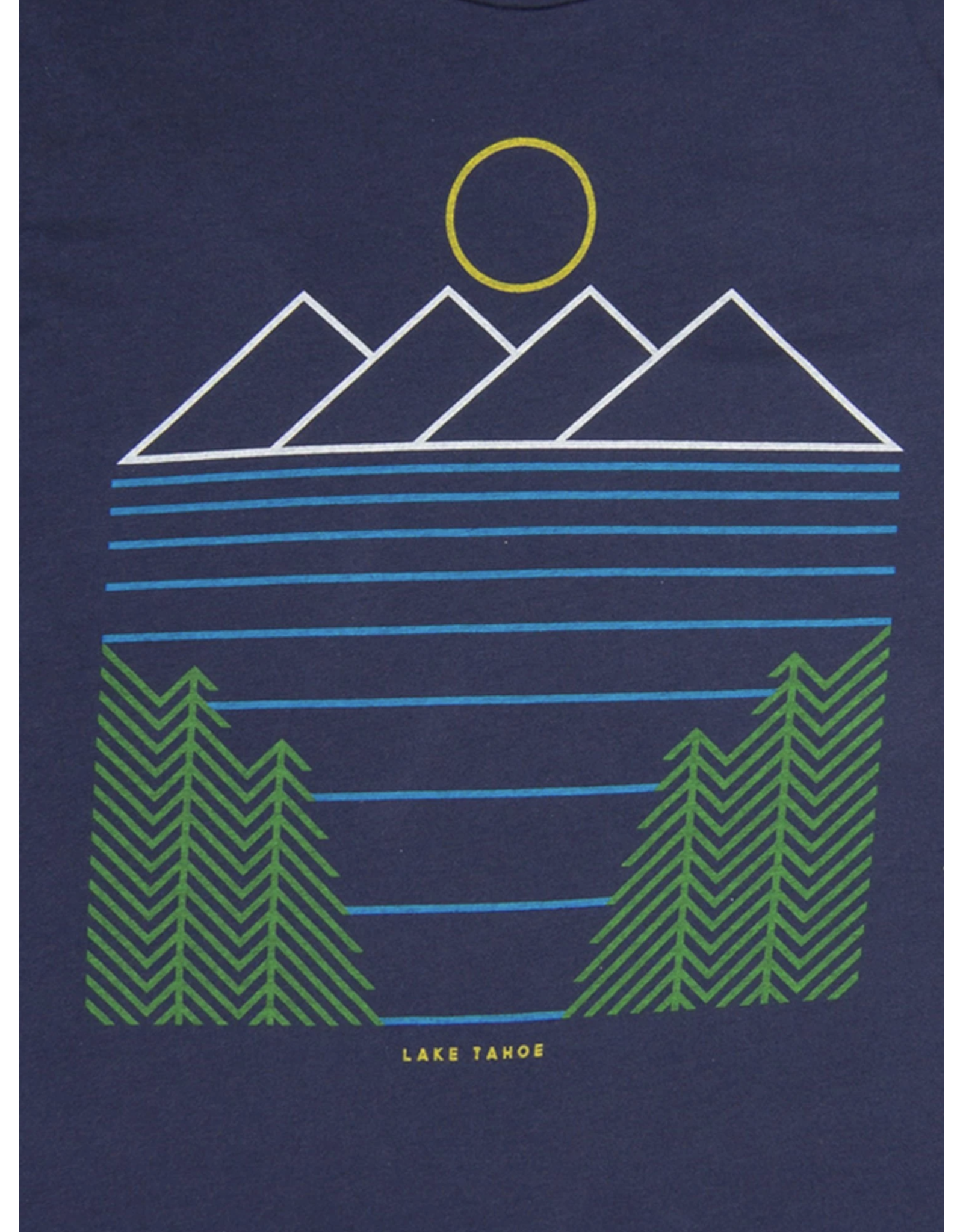 Culk Minimal Lake Tahoe Unisex Tee - Navy