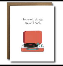 Record Player Birthday Card
