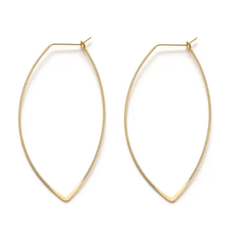 Marquis Hoops  14k Gold