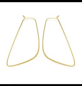 Asymmetrical Hoops  - Gold
