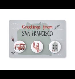 Claudia Pearson San Francisco Button Postcard