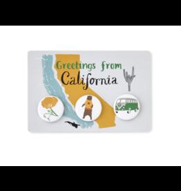 Claudia Pearson California Button Postcard