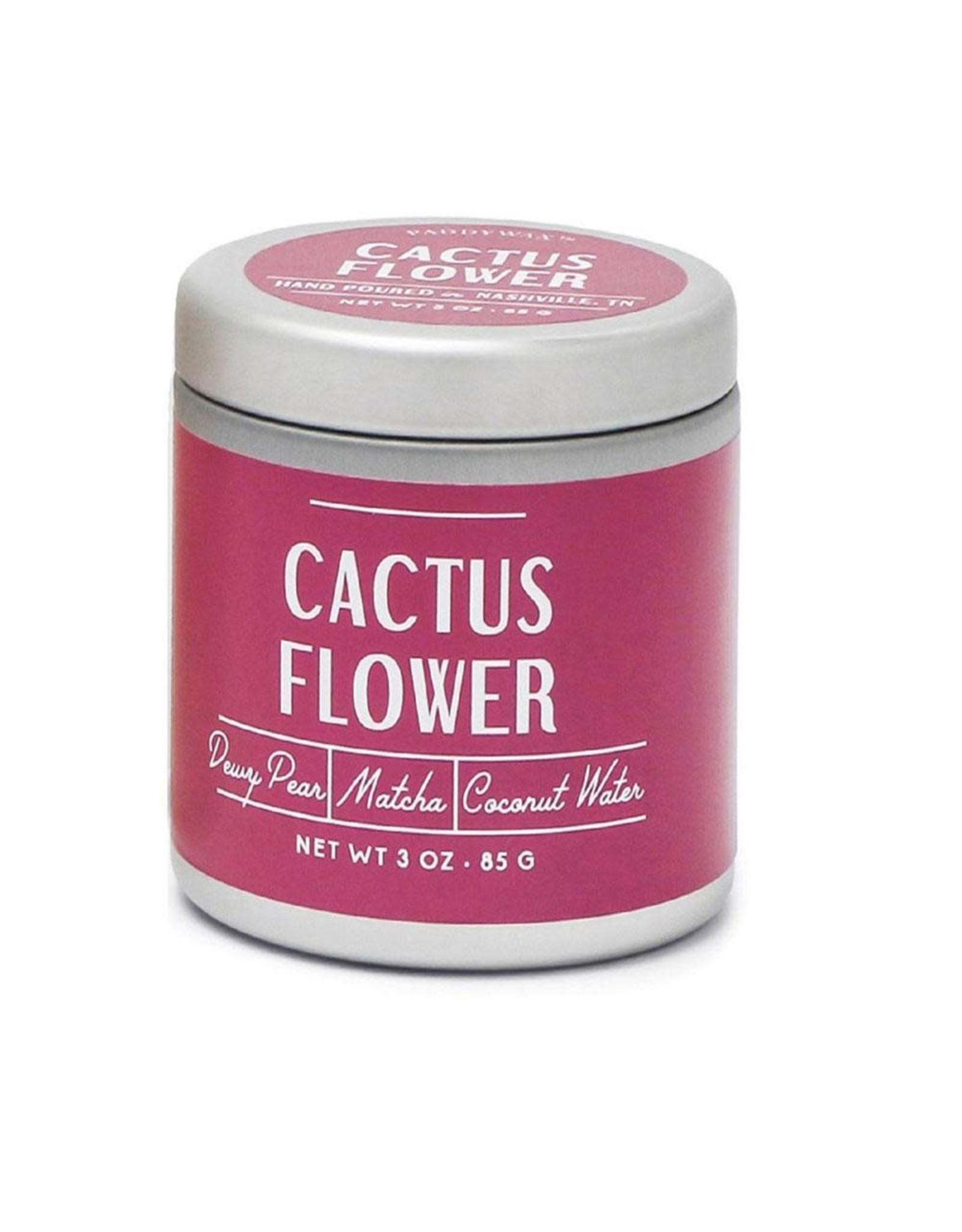 Farmhouse Cactus Flower 3 oz Tin Candle