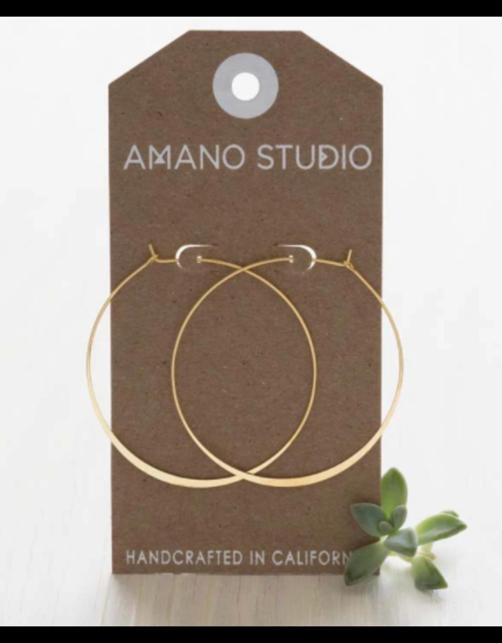 2'' Hoop Earrings  24K Gold Plate