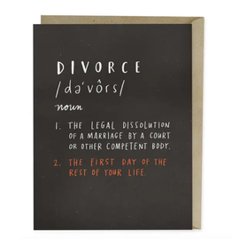 Em & Friends Definition of Divorce Card