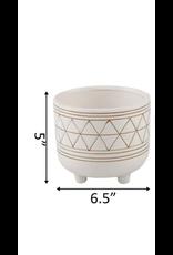 Flora Bunda Geo Ceramic Pot 6''