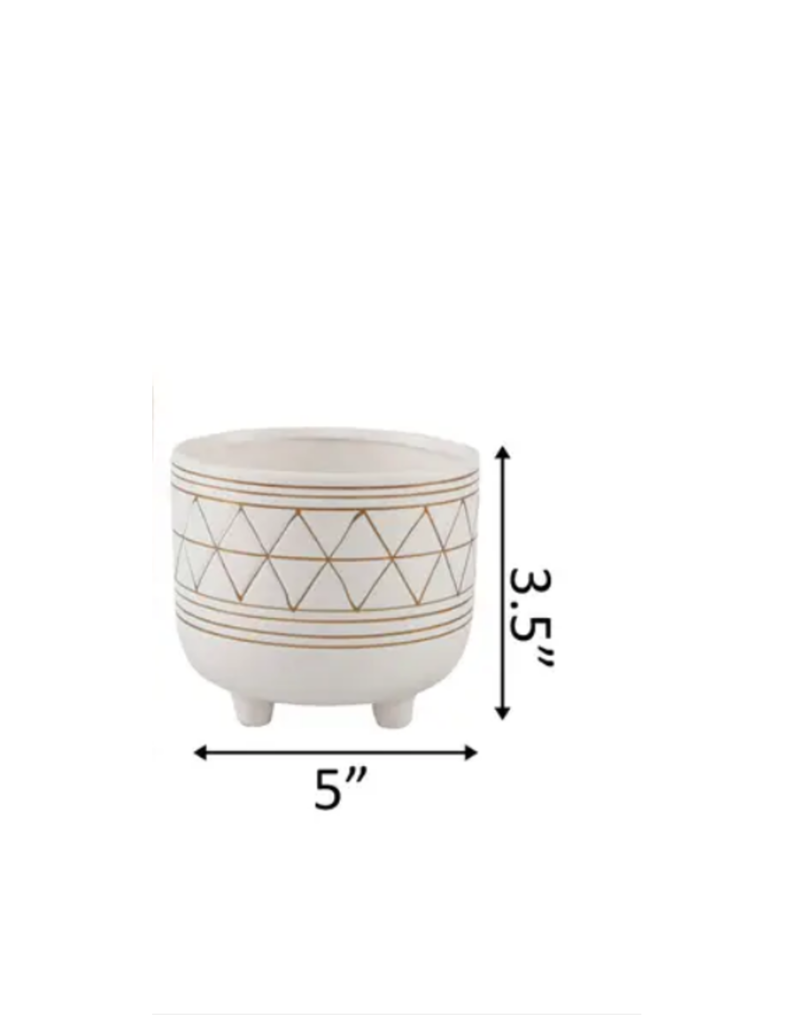 Flora Bunda Geo Ceramic Pot 5''