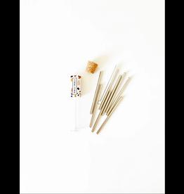 Hali Hali Reusable Cocktail Straw Set - Silver