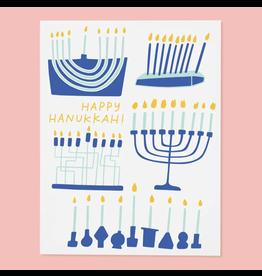Menorahs Card -  Set of 6