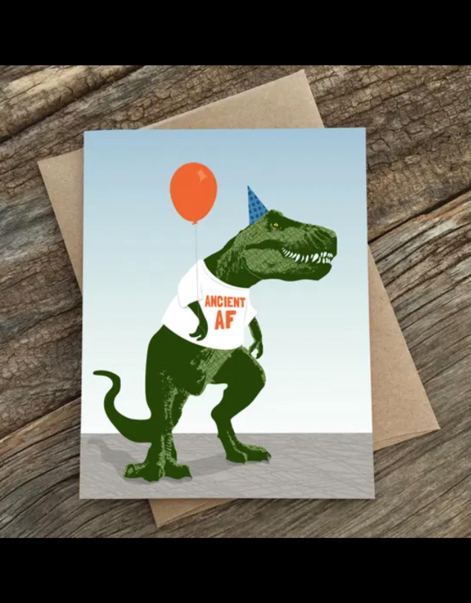 Modern Printed Matter Ancient AF Birthday Card