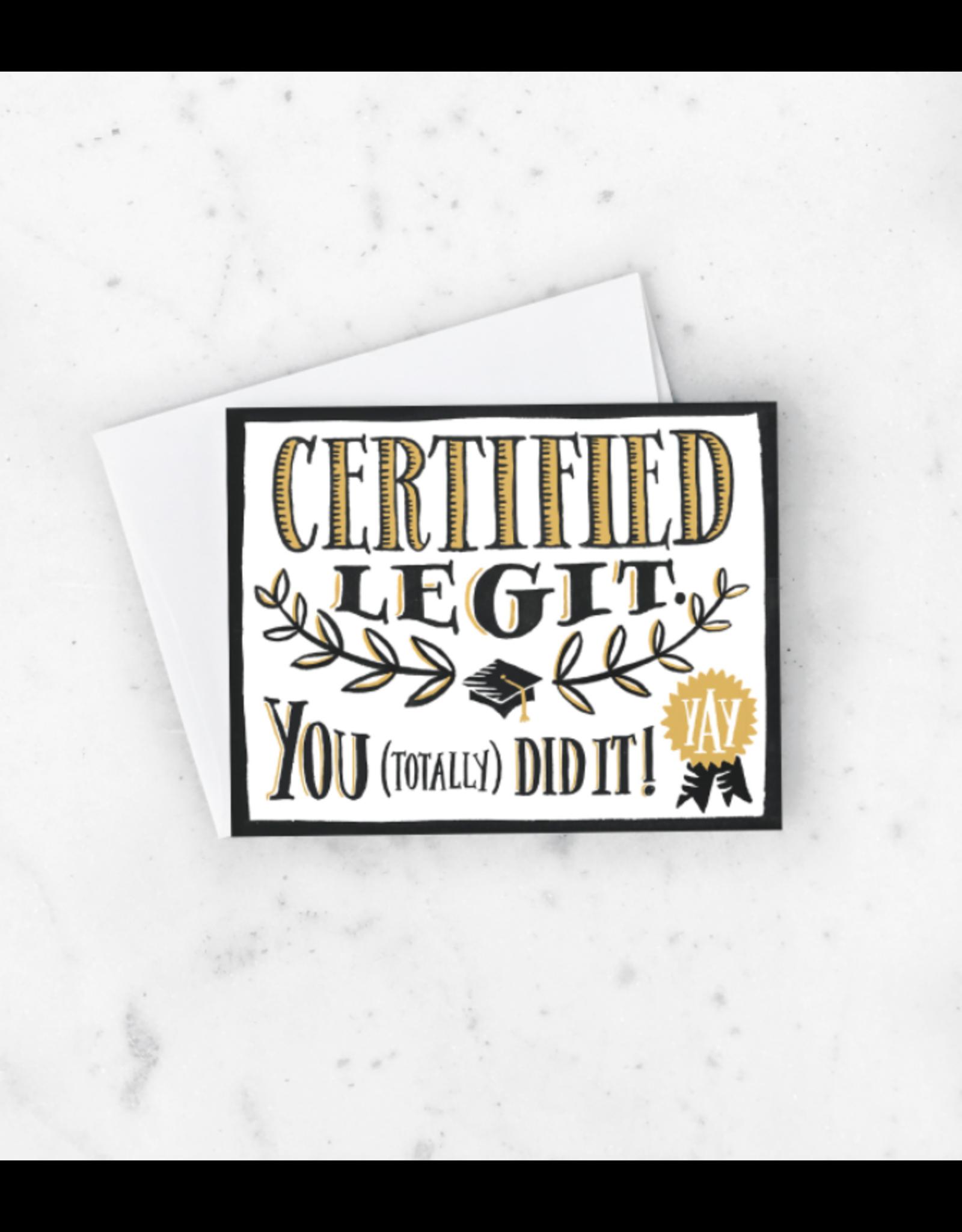 Certified Legit Card