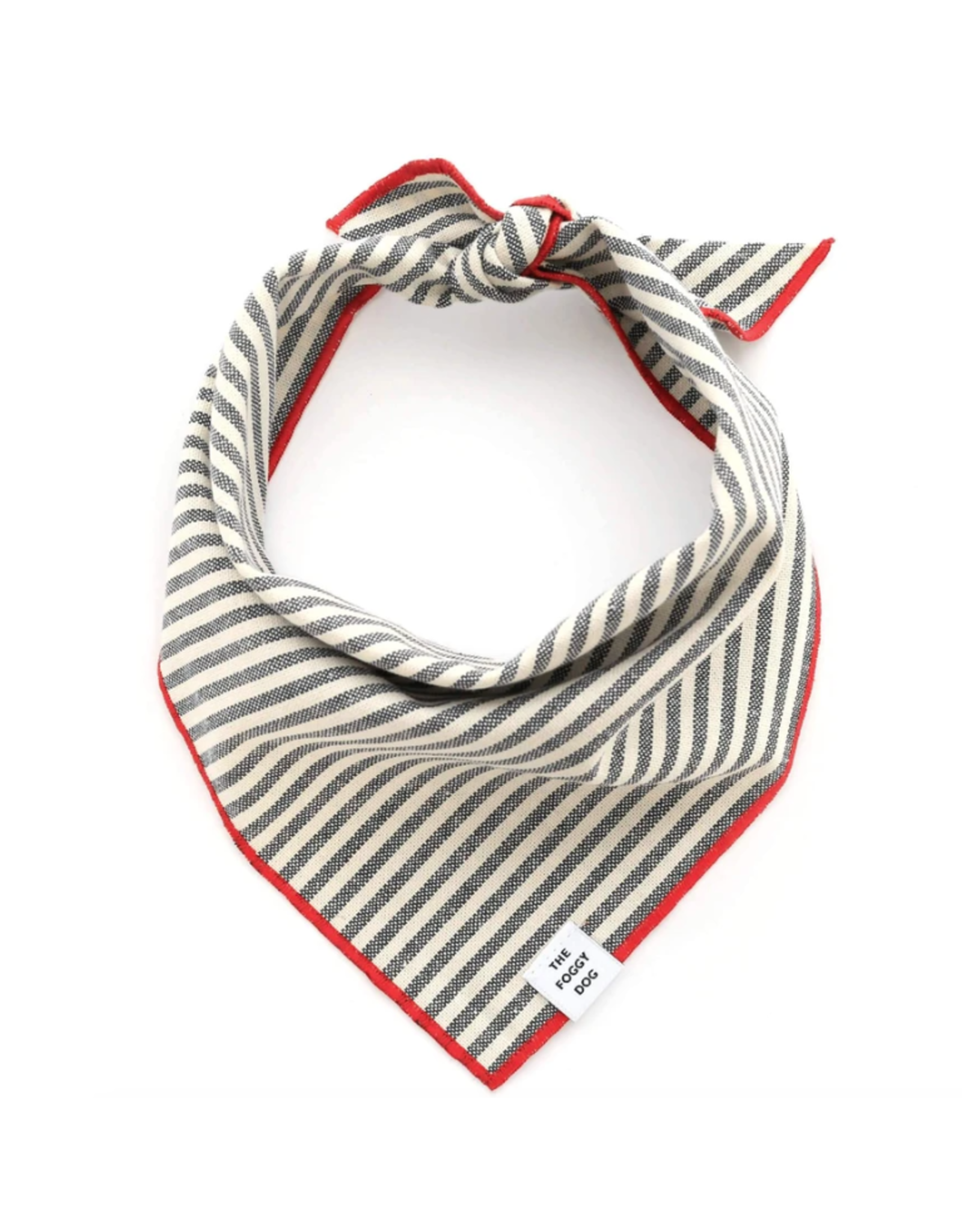 Charcoal Stripe Dog Bandana Medium