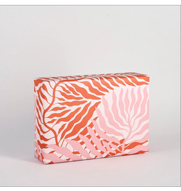 Pink Leaves Gift Wrap