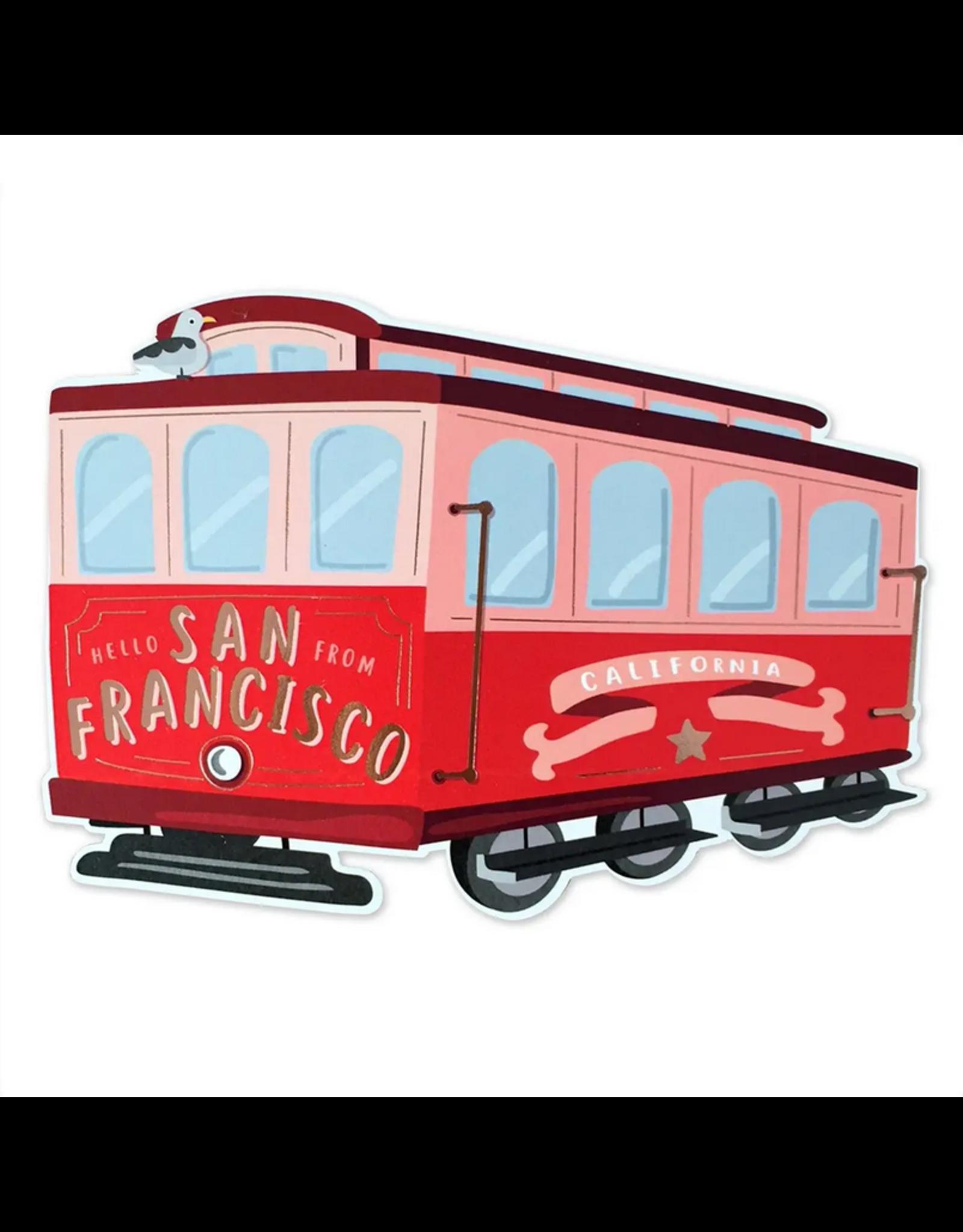 San Francisco Die Cut Card