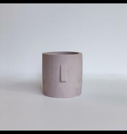 Adam Concrete Man Planter - Pink