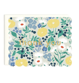 Amy Heitman Thank You - Scalloped Floral Card