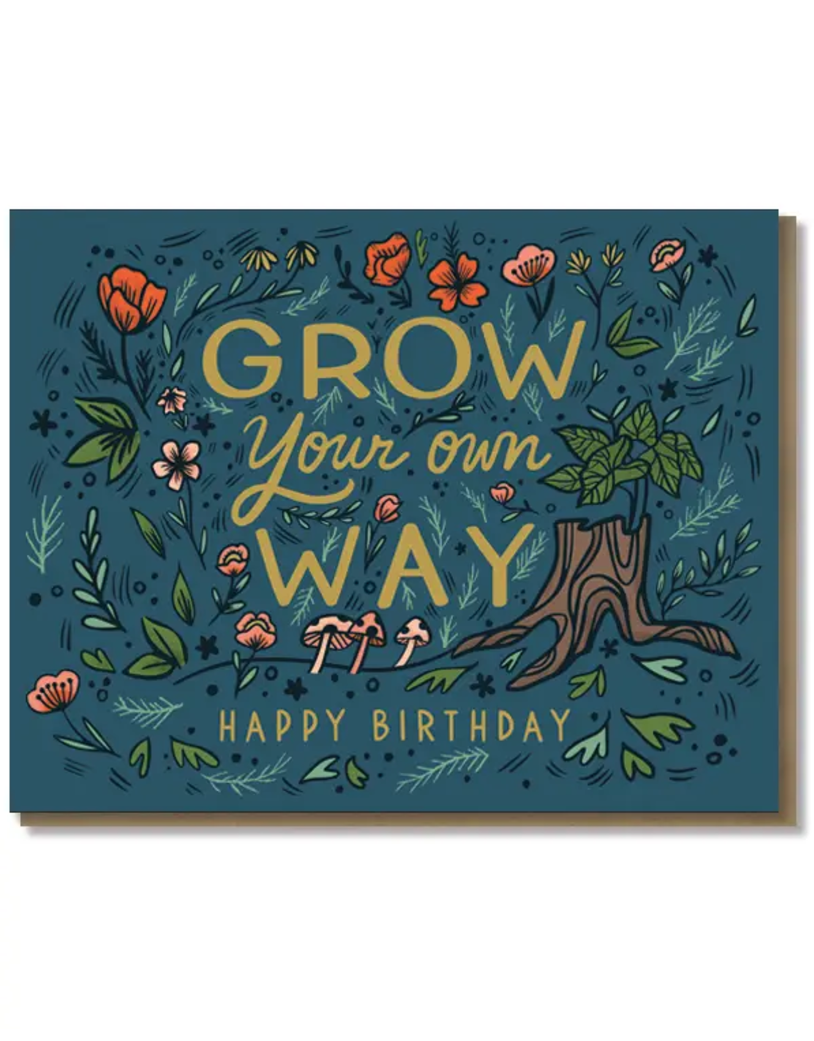 Paper Parasol Press Grow Your Own Way Card