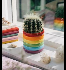 Doiy Rainbow Ceramic Plant Pot