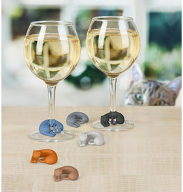 Fred Wine Lives - Kitty Wine Markers