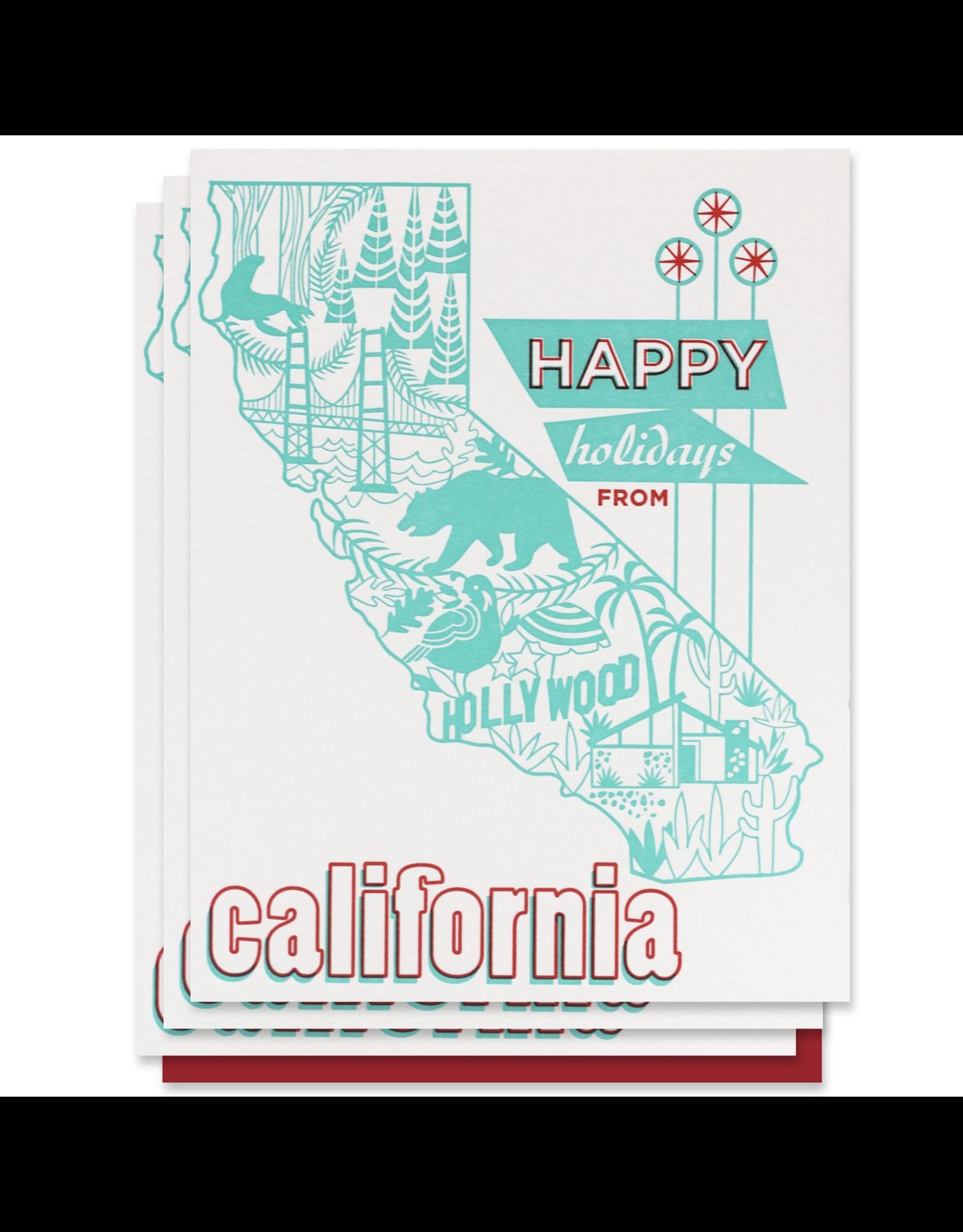 Paper Parasol Press Happy Holidays from California - Box Set of 6