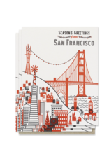 Paper Parasol Press Season's Greetings from San Francisco - Box set of 6