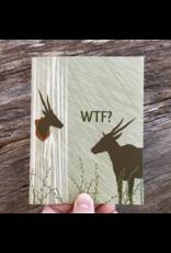 Modern Printed Matter WTF Deer Trophy Card