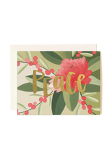 Peace Floral Card