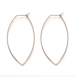 Marquis Hoops - 18K Rose Gold
