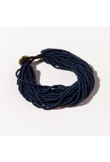 Ink + Alloy Navy Multi Layer Seed Bead Bracelet