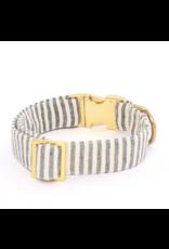 Charcoal Stripe Dog Collar