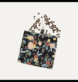 Breeze Black Floral Dog Treat Bag-Black