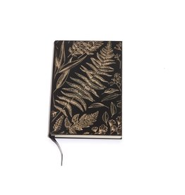 Lucca Fern Black And Gold Faux Leather Journal