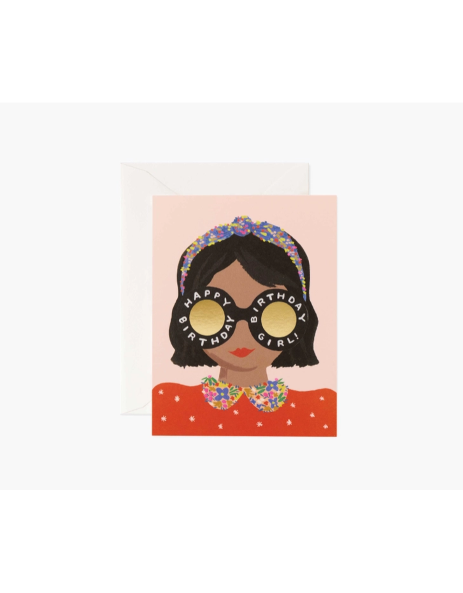 Rifle Paper Headband Birthday Girl Card
