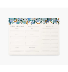 Rifle Paper Garden Party Blue Meal Planner Notepad