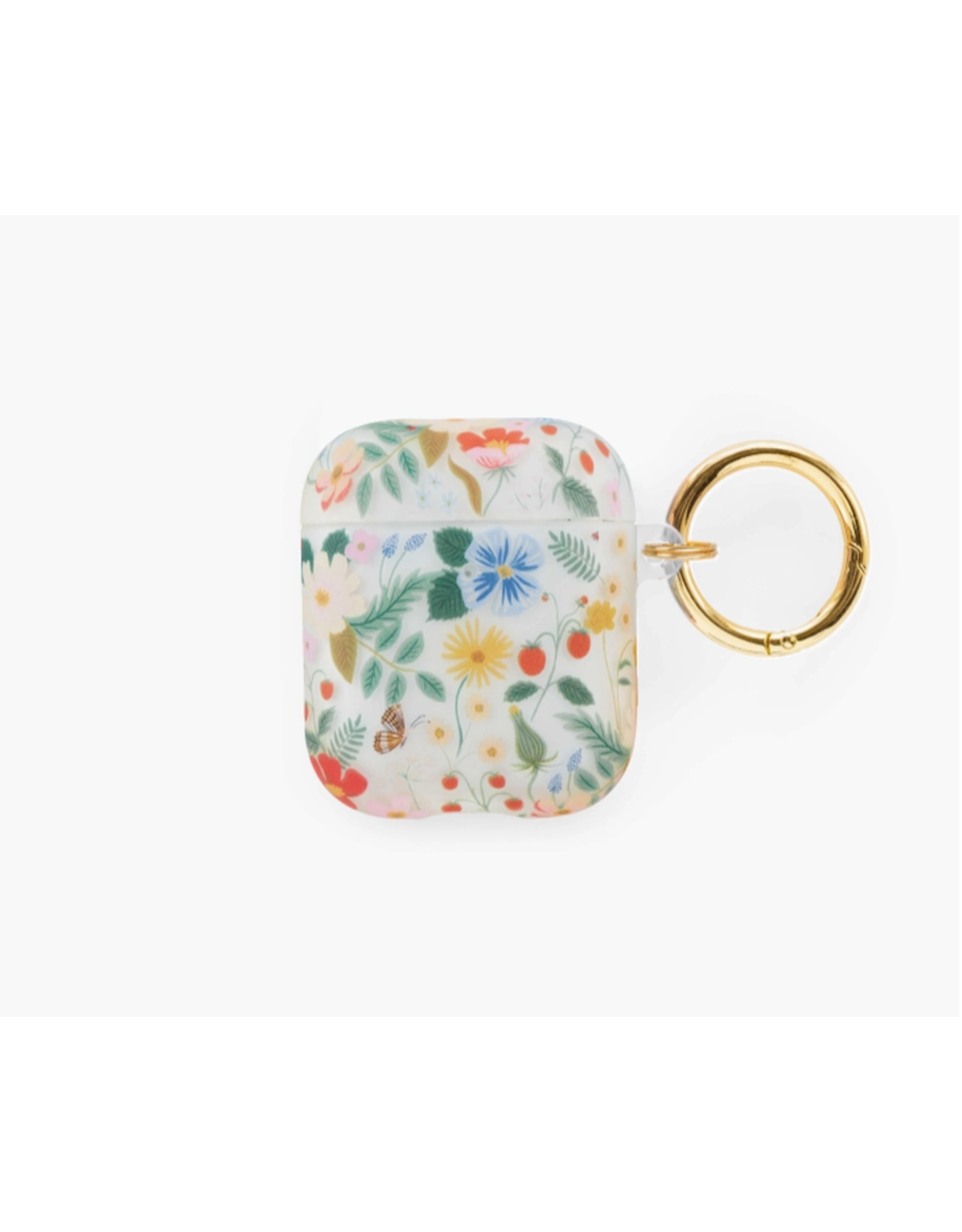 Rifle Paper Clear Strawberry Fields Airpod Case