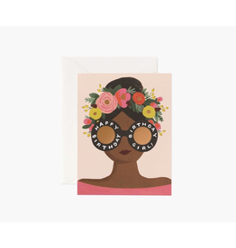 Rifle Paper Flower Crown Birthday Girl Card