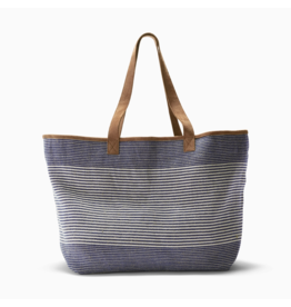 Boon Supply Navy Pinstripe Tote