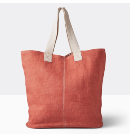 Boon Supply Washed Linen Tote, Coral