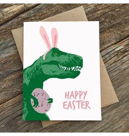 Modern Printed Matter Trex Bunny Easter Card