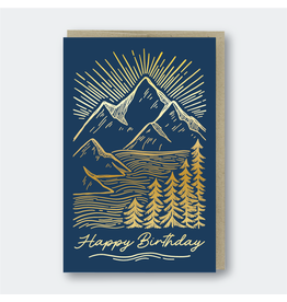 Pike Street Press Birthday Mountainscape Card