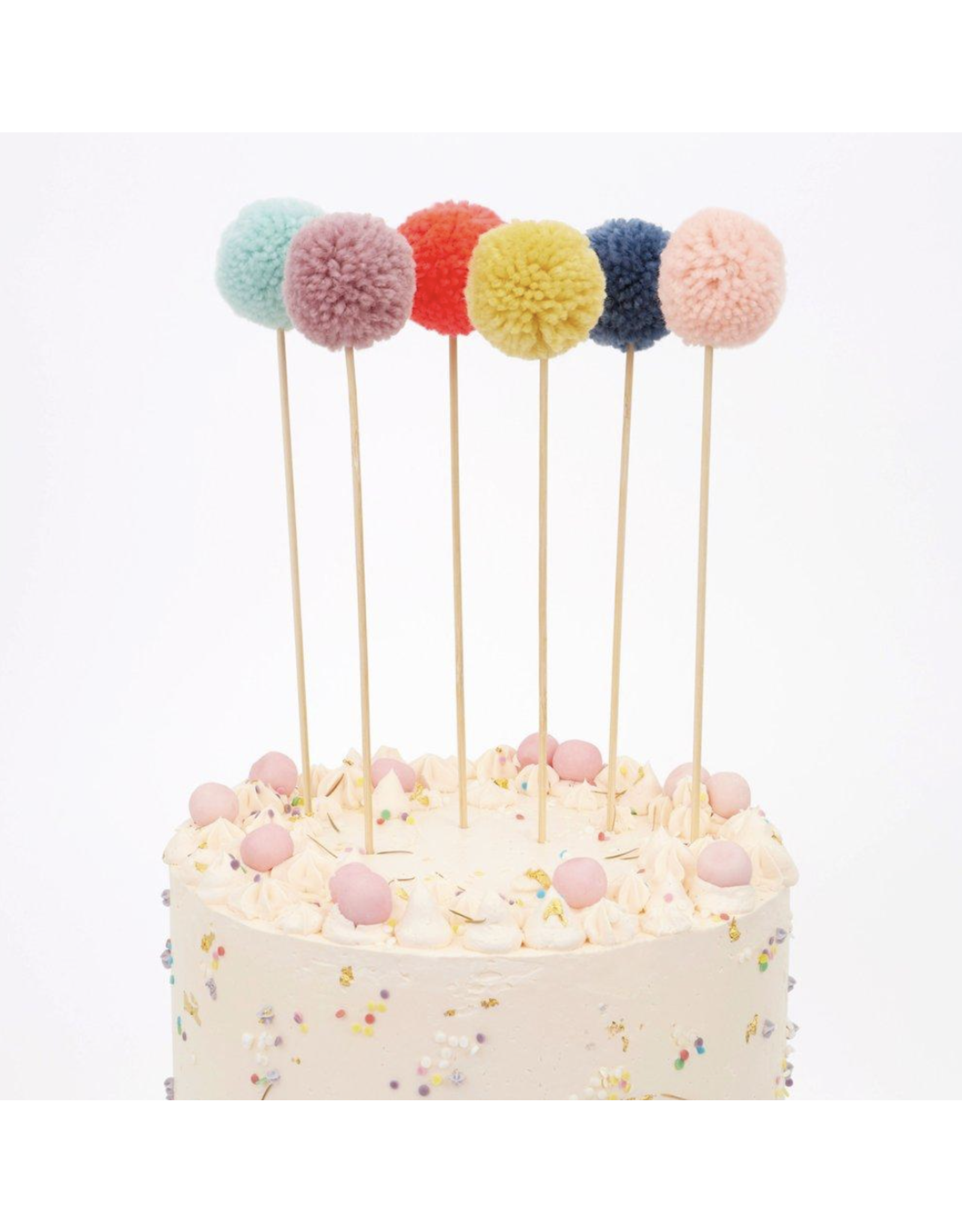 Multi PomPom Cake Topper