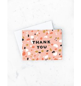 Terrazzo Thanks Card- Boxed Card
