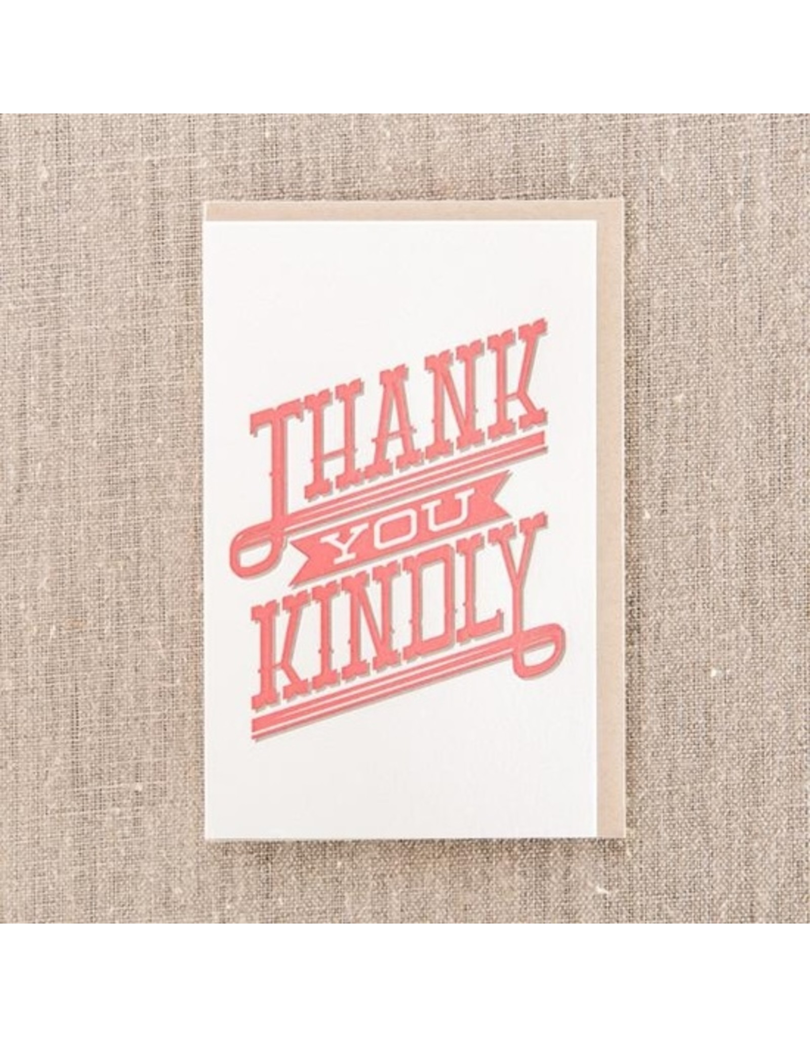 Pike Street Press Thank You Kindly Type Card