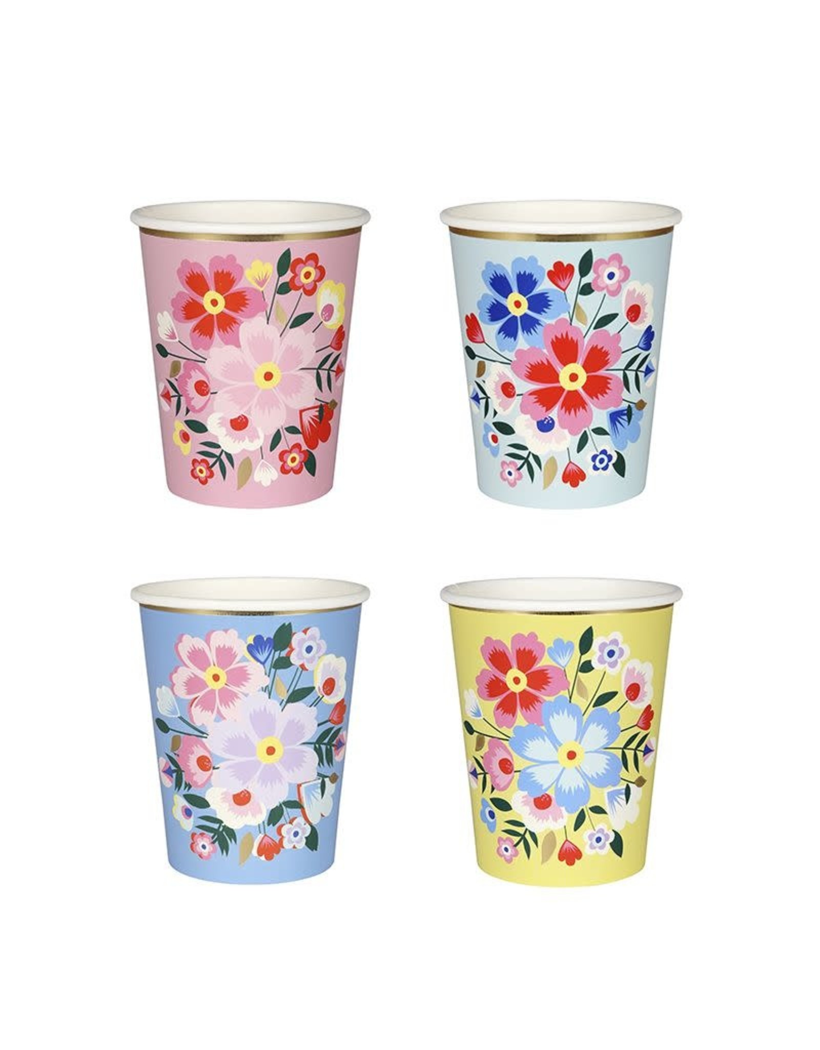 Bright Floral Cups