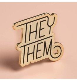 Dissent Pins Pronoun Pin - They/Them