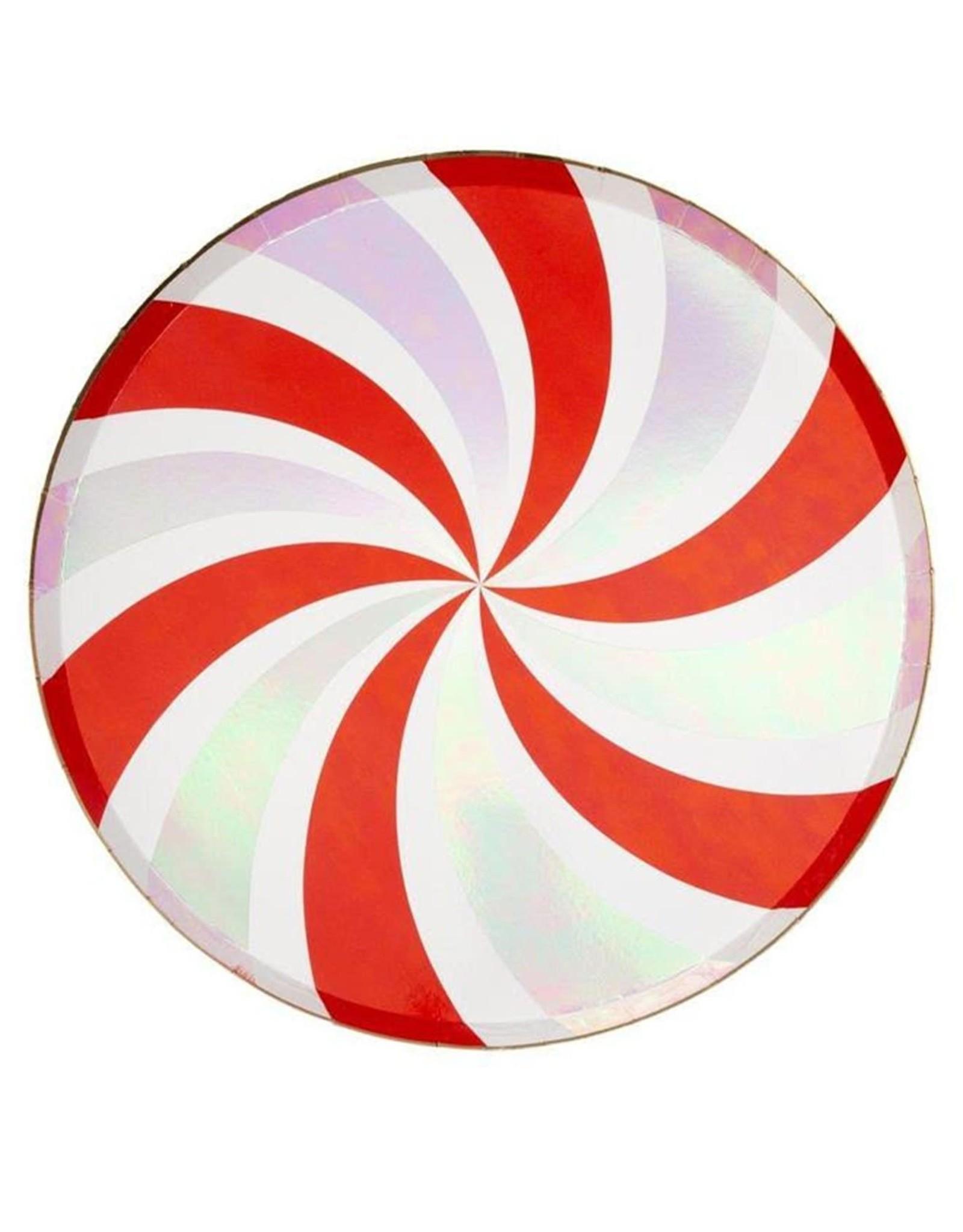 Peppermint Swirl Dinner Plate