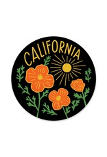 Paper Parasol Press California Poppy Sun Black Sticker