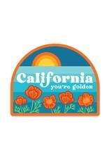 Paper Parasol Press Retro California You're Golden Sticker